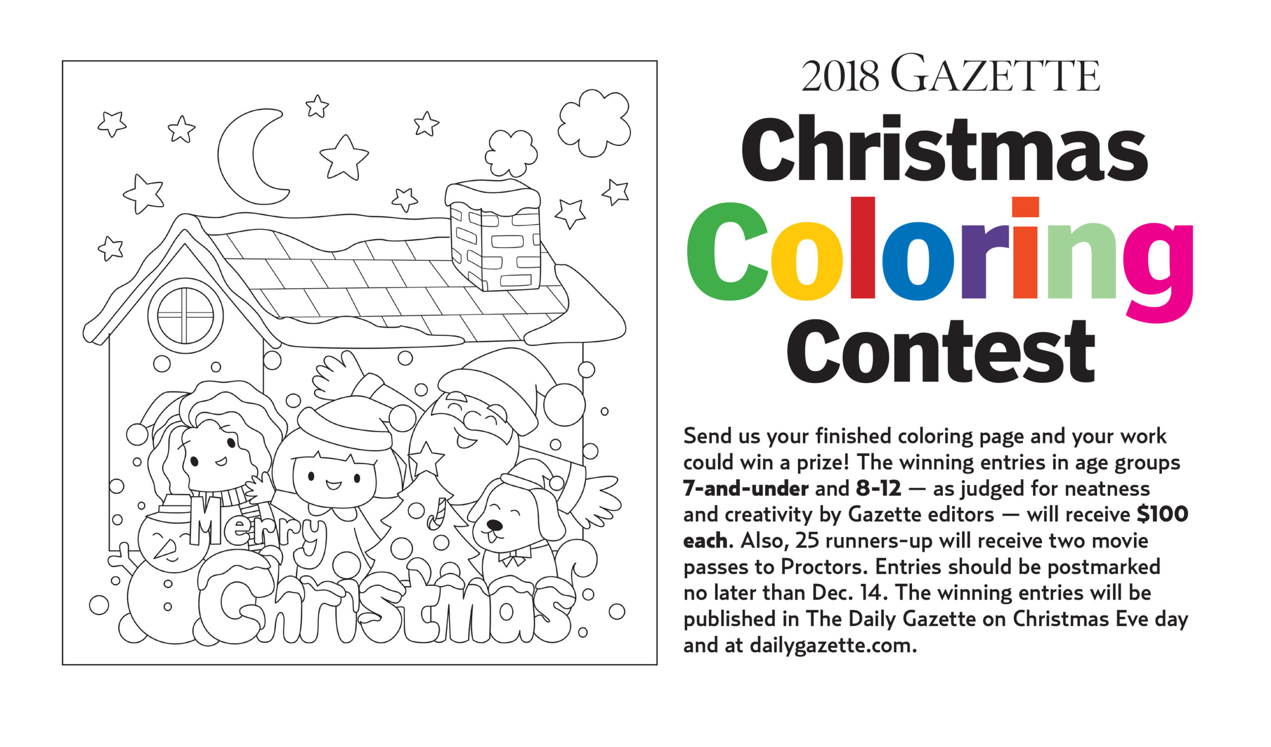 gazette christmas coloring contest under way the daily gazette the daily gazette