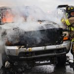 Pickup truck burns Tuesday on Interstate 890 in Schenectady
