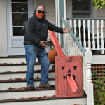 Delivering treats - from a distance: Saratoga Springs man builds Halloween candy chute, gets noticed...