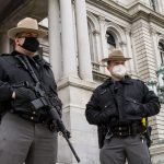 Photos: Outside the New York State Capitol in Albany Tuesday