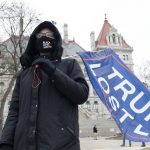 Quiet day outside NY Capitol in Albany as media – but no Trump supporters – gather