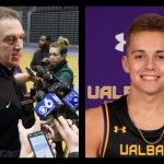 Jackson Brown makes debut for dad Will Brown's UAlbany men's basketball program