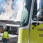 Photos: Fire damages home in Charlton Monday