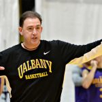 In final year of contract, Brown's UAlbany men's basketball team enters America East postseason