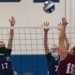 Notre Dame-Bishop Gibbons girls' volleyball outlasts Mekeel Christian Academy in five-setter