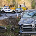 Wednesday morning rollover crash in Niskayuna sends two to hospital