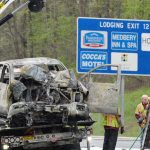 Drivers identified in fiery Wednesday Northway crash; Lanes briefly shut, no serious injuries
