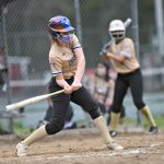 Amsterdam softball's Wozniak survives scare, powers Rams to season-opening win against Johnstown