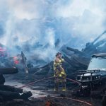 20 departments helped battle Sunday log fire in Scotia, chief says; No firefighters hurt
