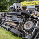 Driver extricated from rolled over pickup Sunday in Glenville