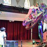 Visitors control dinosaurs in Saratoga Springs exhibit
