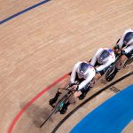 Team USA, Emma White post third-fastest time in track cycling team pursuit qualifying