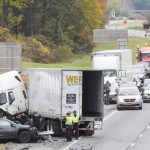 Images: Photos from the scene of Thursday's fatal semi-SUV crash on the Thruway between Albany, Sche...