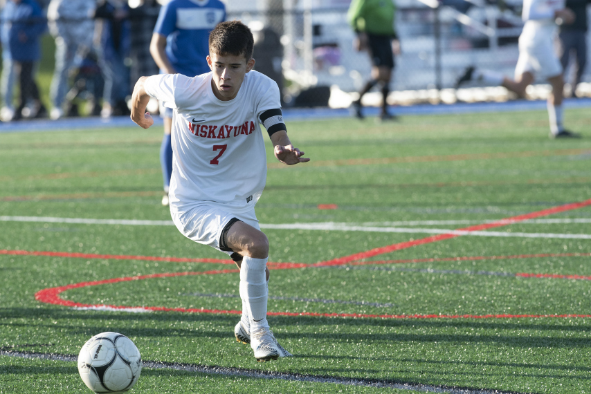 Niskayuna boys' soccer twins, Andrew and Matthew Stiles, score high on SATs together