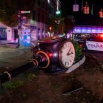 Images: Photos from Thursday night's downtown Schenectady crash that injured driver, toppled clock