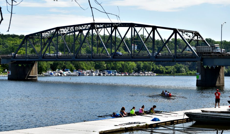 The view from Niskayuna Rowing's dock of the Rexford Bridge is shown in this recent photo.