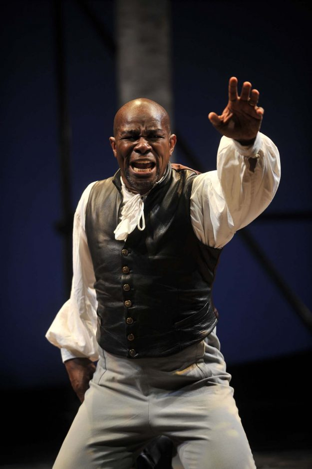 John Douglas Thompson, shown playing Othello in a previous Shakespeare & Company production, takes on the role again this month as Ira Aldridge in the S&C production of 'Red Velvet,' the story of the first black man to perform Shakespeare in England.