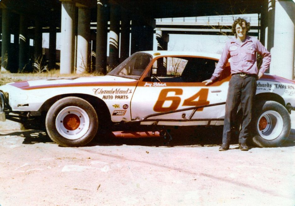 Mike Budka is shown with one of the early versions of the B&H Racing late model.
