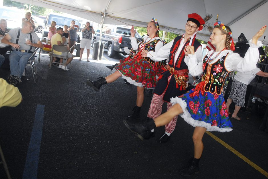 Sunday afternoon in Schenectady, August 16th, 2015, at the Church of St. Adalbert for the 30th Annual Polish American Harvest Festival, at 550 Lansing Street. Kids with the St. Adalbert Dance Group performed for the audience.