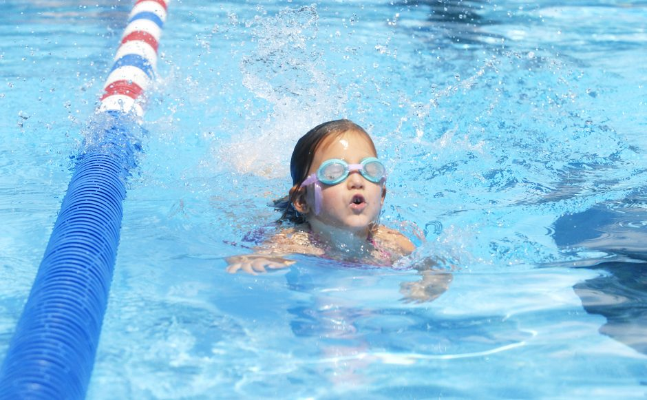 Sunday early afternoon in Niskayuna, August 16th, 2015, at the Niskayuna Town Pool, off Aqueduct Road, families enjoyed cooling off as temperatures rose. Lilly Brennan, 6-years-old of Niskayuna, practiced her laps in the pool.