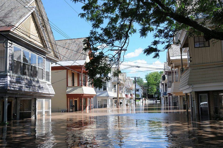Ingersoll Avenue in Schenectady's Stockade neighborhood after Tropical Storm Irene in August 2011.