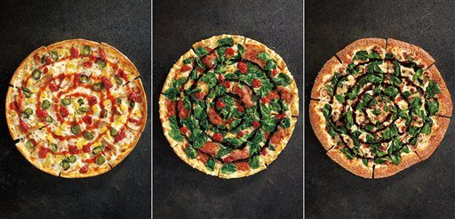 This combination made with product images provided by Pizza Hut shows some of the restaurant the  chain rolled out in 2014.