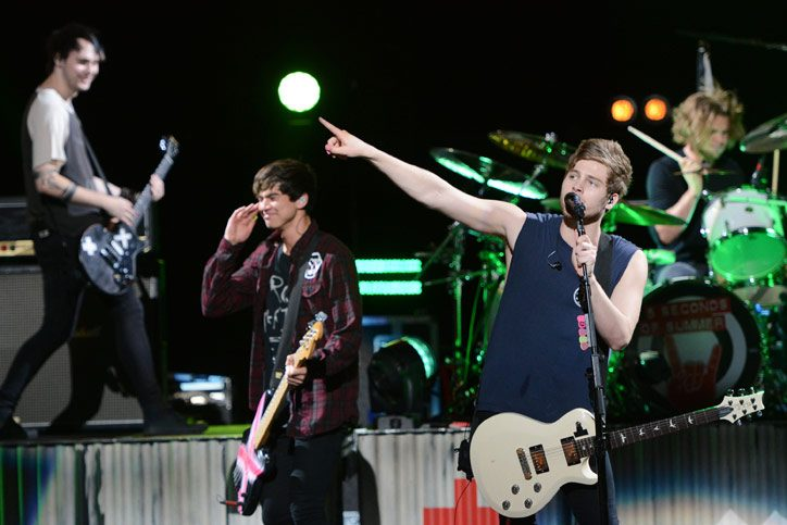 5 Seconds of Summer performs at Saratoga Performing Arts Center on Wednesday, August 26, 2015.