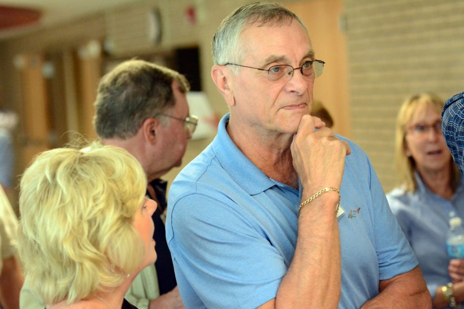 Donald Pray listens as the class of 1965 get a tour of Niskayuna High School as part of their 50th reunion on Saturday, September 12, 2015.