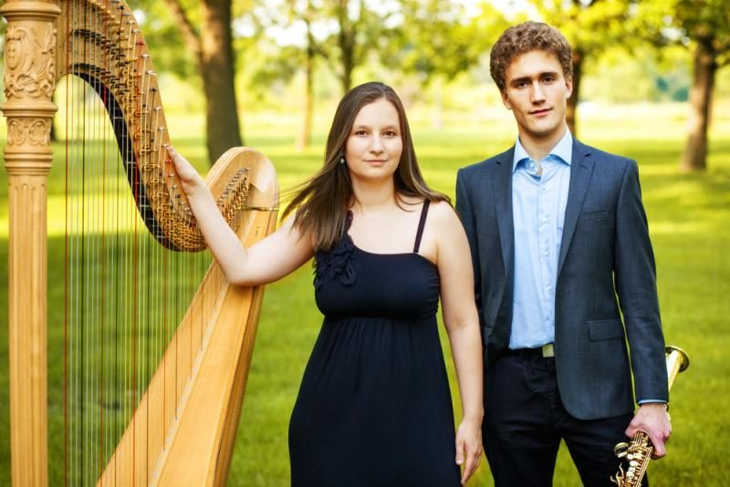 The Admiral Launch Duo — saxophonist Jonathan Hulting-Cohen and harpist Jennifer Ellis — opened the SCCC Chamber Music Series Thursday, Oct. 15.