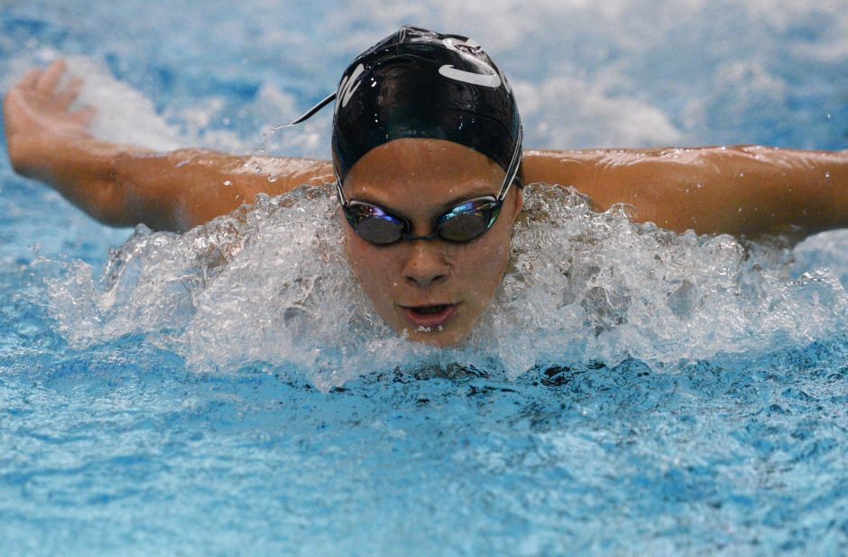Swimmers like Julia Samson of Shenendehowa can't always hear instructions from their coaches when they're in the water.