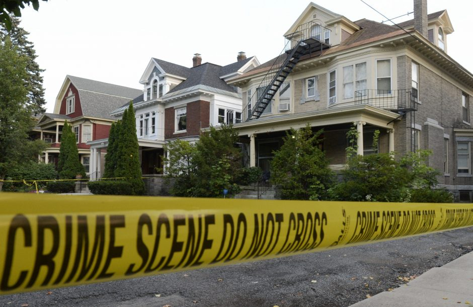 Crime scene tape surrounds the property at 1330 Union St. in this Sept. 3 photo.