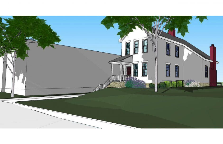 A rendering of the proposed raising of 4 Washington Ave. in Schenectady's historic Stockade district.