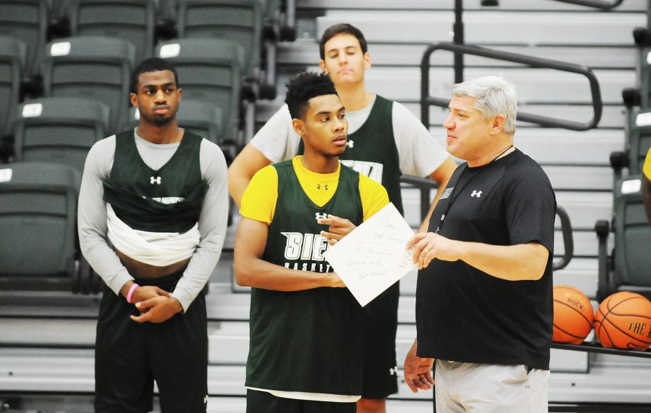 Siena College head coach Jimmy Patsos will take the Saints to Durham, N.C., tonight to open the season against defending national champion Duke.