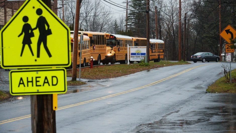 Leaders of the Annur Islamic School — located about a block north of Central Avenue on Lansing Road in Colonie — say they've been asking for stop signs, flashing lights and more explicit 'school' signage for the past five years.