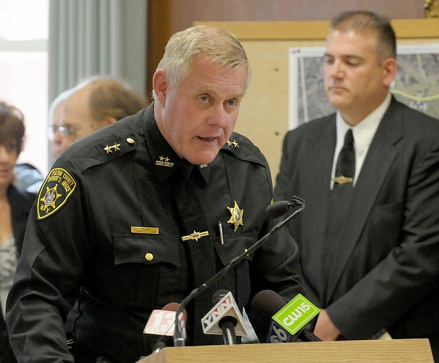 Fulton County Sheriff Thomas J. Lorey, seen here in 2011, is supporting sheriffs in New York who are asking people with licenses to carry guns to do so.