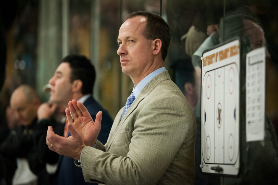 When he was the head coach at Union College, Kevin Sneddon, now the head coach at Vermont, was instrumental in the formation of the Garnet Blades booster club, which dramatically improved the hockey program.