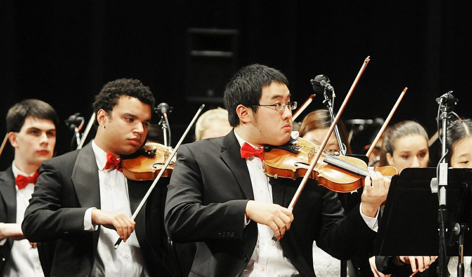 The Empire Youth Orchestra, seen performing at last month's Melodies of Christmas at Proctors, returns to the Schenectady venue with Charles Yang on Jan. 30.