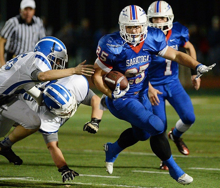 Saratoga Springs senior Dakota Harvey, the 2015 Gazette All-Area Football Team Offensive Player of the Year, has been named to the all-state Class AA first team. He is the first Section II running back in five years named to the Class AA top squad.