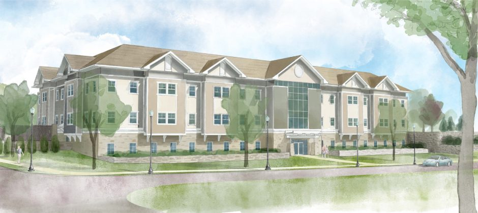 A rendering of the proposed Saratoga Hospital medical office building.