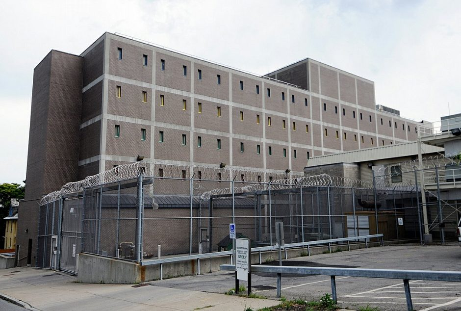 Exterior of the Schenectady County Jail where the inmate population is housed, located on Veeder Ave. in the city of Schenectady.