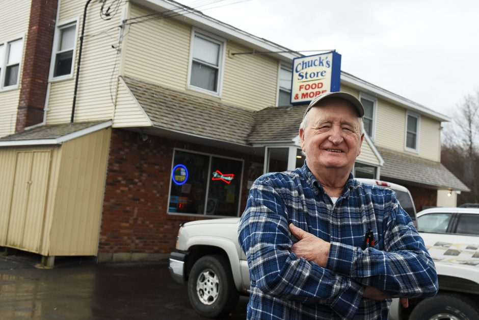 Chuck Quinlan, owner of Chuck's Store, on Sagandaga Road in Galway, on Friday morning, April 1, 2016. Chuck's is closing after 58 years in business. Erica Miller / Gazette Photographer
