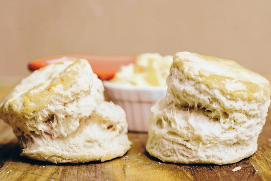 Buttermilk Biscuits with Double Ginger Butter. (Dixie Vereen for The Washington Post)