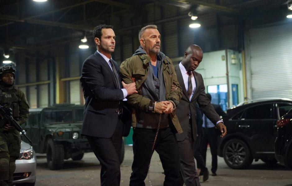 Kevin Costner, center, stars as Jericho Stewart in 'Criminal.' (Jack English/Lionsgate)