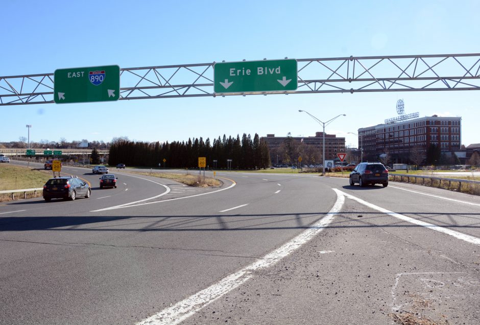 Construction of the I-890 interchange in downtown Schenectady, which will eliminate one of the two loops, is set to begin on Monday.
