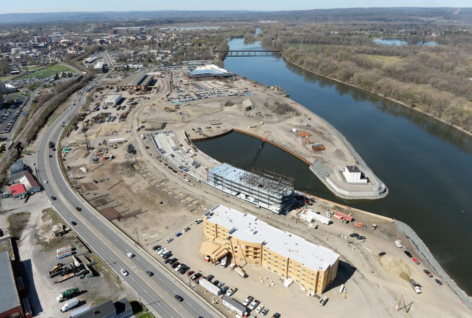 Rivers Casino & Resort Schenectady looking south.