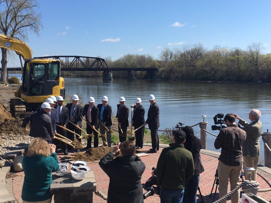 Groundbreaking for Homewood Suites by Hilton in Glenville, April 27, 2016.