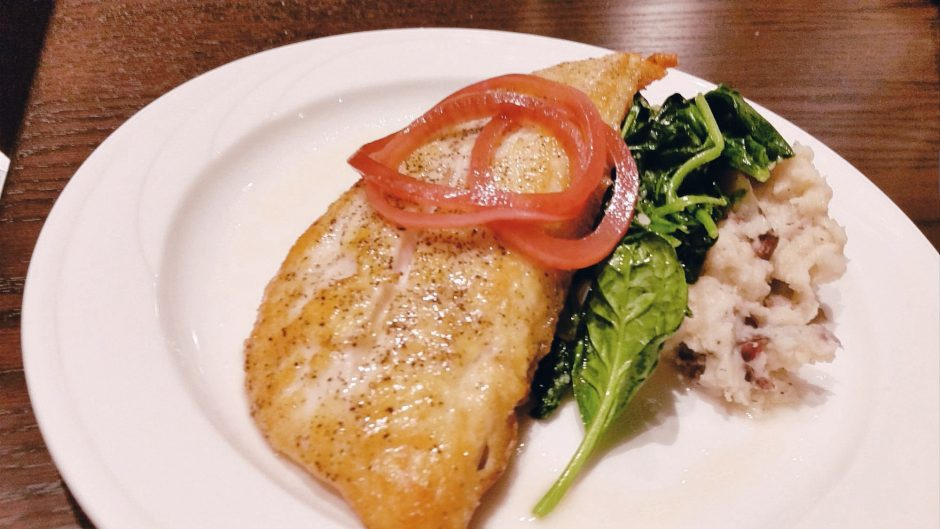 The red snapper at Seven An American Bistro. (Caroline Lee photo)