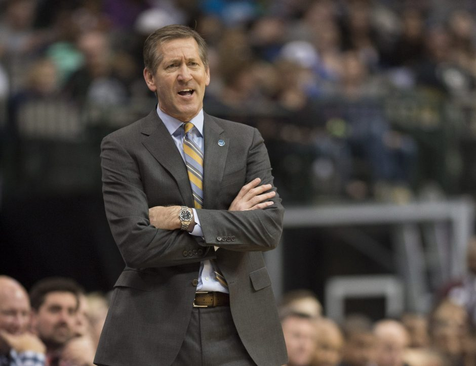 Jeff Hornacek, shown coaching his former team, the Phoenix Suns, is expected to be named coach of the Knicks. (Jerome Miron/USA Today Sports)