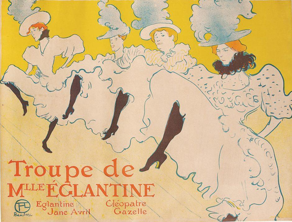 Henri de Toulouse-Lautrec's color lithograph 'La Troupe de Mademoiselle Eglantine' is part of an exhibit at the Fenimore Art Museum in Cooperstown.