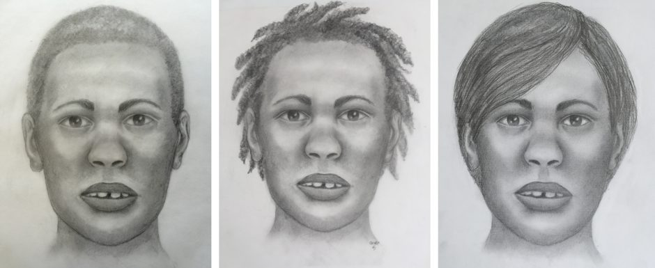 A forensic artist's renderings of what the victim may have looked like.